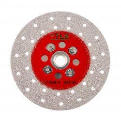 TLS VACUUM BRAZED DISC gyémánttárcsa száraz gérvágáshoz és csiszoláshoz 2 oldalas M14x115 mm piros #50/60  finom