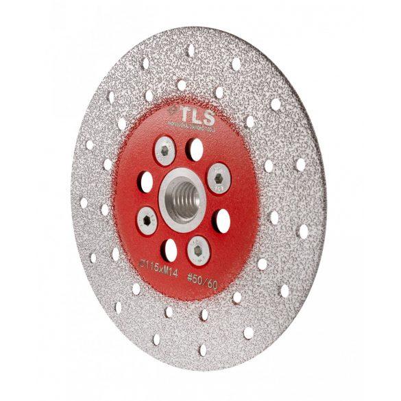 TLS VACUUM gyémánt csiszolótárcsa 2 oldalas M14x115 mm - finom szemcseméret