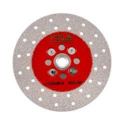 TLS VACUUM gyémánt csiszolótárcsa 2 oldalas M14x125 mm - finom szemcseméret