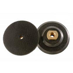 TLS gumitányér tépőzáras gyémántszemcsés polírozótárcsához D100 mm gumis hajlékony RPM 4500 Max
