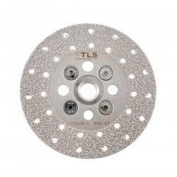 TLS VACUUM gyémánt vágó- és csiszolótárcsa 2 oldalas M14x100 mm - közepes szemcseméret szürke