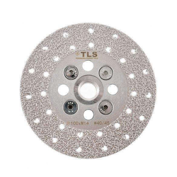 TLS VACUUM gyémánt csiszolótárcsa 2 oldalas M14x100 mm - közepes szemcseméret
