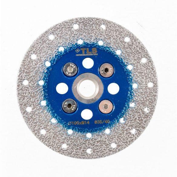 TLS VACUUM gyémánt csiszolótárcsa 2 oldalas M14x100 mm - durva szemcseméret