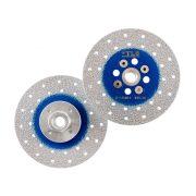 TLS VACUUM gyémánt vágó- és csiszolótárcsa 2 oldalas M14x115 mm - durva szemcseméret kék