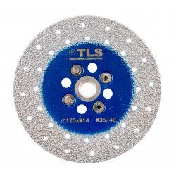 TLS VACUUM gyémánt csiszolótárcsa 2 oldalas M14x125 mm - durva szemcseméret