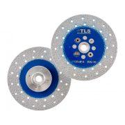 TLS VACUUM gyémánt vágó- és csiszolótárcsa 2 oldalas M14x125 mm - durva szemcseméret kék