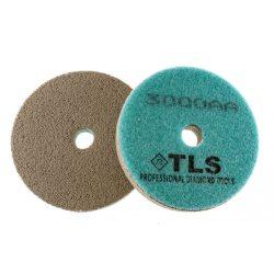 TLS SPONGE 3000AA-d100 mm-gyémánt csiszolókorong-polírozó korong-kemény szivacs