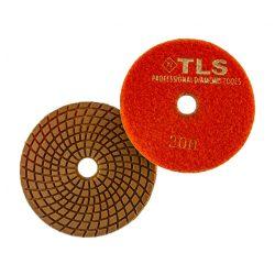 TLS COPPER-P200-d100 mm-rézkötésű gyémánt csiszolókorong-polírozó korong-vizes