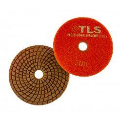 TLS COPPER-P400-d100 mm-rézkötésű gyémánt csiszolókorong-polírozó korong-vizes