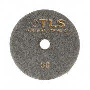TLS COPPER-P50-d100 mm-rézkötésű gyémánt csiszolókorong-polírozó korong-vizes