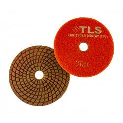 TLS COPPER-P400-d125 mm-rézkötésű gyémánt csiszolókorong-polírozó korong-vizes