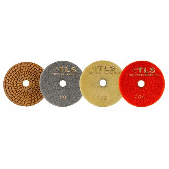 TLS COPPER-P50-d125 mm-rézkötésű gyémánt csiszolókorong-polírozó korong-vizes