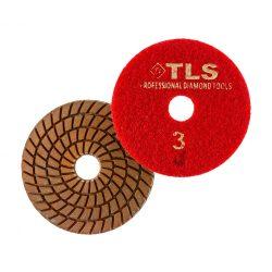 TLS SPIDER5-P3-300-d100 mm-gyémánt csiszolókorong-polírozó korong-vizes