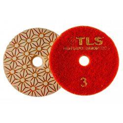 TLS TRAP5-P3-300-d100 mm-gyémánt csiszolókorong-polírozó korong-száraz-vizes