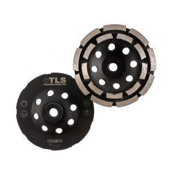 TLS DOUBLE ROW gyémánt betoncsiszoló-csiszolótárcsa kétsoros d115mm M14