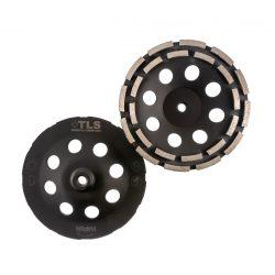 TLS DOUBLE ROW gyémánt betoncsiszoló-csiszolótárcsa kétsoros d180mm x M14
