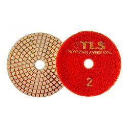 TLS VULCAN-P2-300-d100 mm-gyémánt csiszolókorong-polírozó korong-száraz-vizes