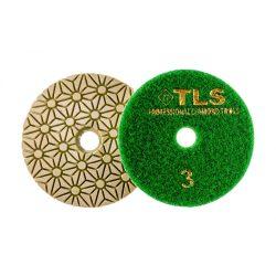 TLS TRAP3-P3-1000-d100 mm-gyémánt csiszolókorong-polírozó korong-száraz-vizes