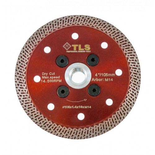 TLS K-PRO M14 ultravékony gyémánt vágókorong d105xM14x1,2x10 mm