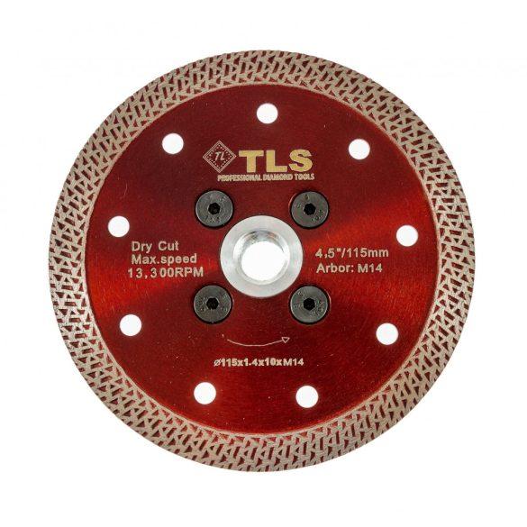 TLS K-PRO TURBO vékony gyémánt vágókorong d115xM14x1,4x10 mm