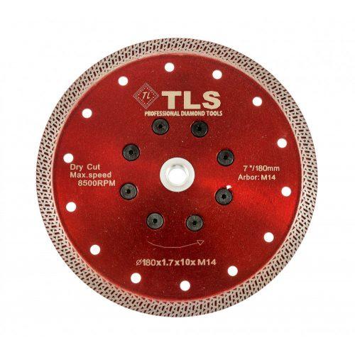 TLS K-PRO M14 ultravékony gyémánt vágókorong d180xM14x1,7x10 mm