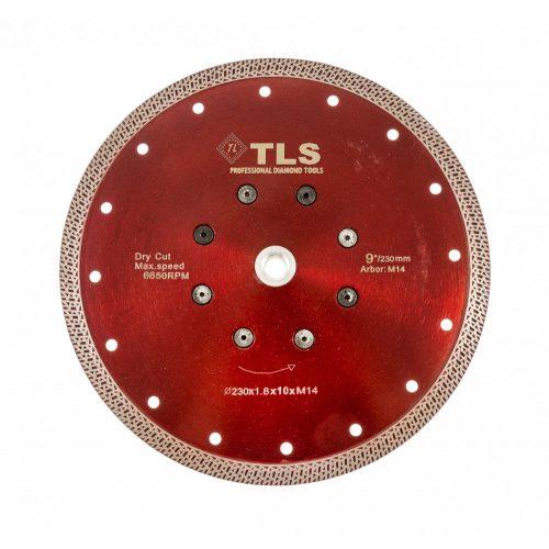 TLS K-PRO M14 ultravékony gyémánt vágókorong d230xM14x1,8x10 mm