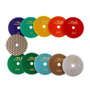TLS ANGRY BEE D100 mm 10 darabos szett száraz gyémánt polírozótárcsa P30-50-100-200-400-800-1000-1500-3000-BUFF