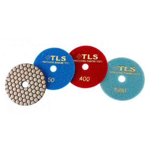 TLS ANGRY BEE D100 mm 3 darabos szett száraz gyémánt polírozótárcsa P50-400-1500