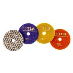 TLS ANGRY BEE D100 mm 3 darabos szett száraz gyémánt polírozótárcsa P30-100-200