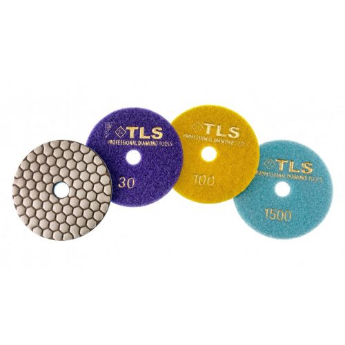 TLS ANGRY BEE D100 mm 3 darabos szett száraz gyémánt polírozótárcsa P30-100-1500