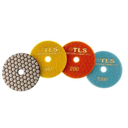 TLS ANGRY BEE D100 mm 3 darabos szett száraz gyémánt polírozótárcsa P100-200-1500