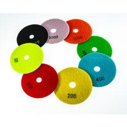 TLS ANGRY BEE D100 mm 9 darabos szett száraz gyémánt polírozótárcsa P30-50-100-200-400-800-1500-3000-BUFF