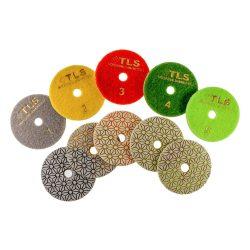 TLS TRAP5 D100 mm 5 darabos teljes szett száraz vizes gyémánt polírozótárcsa P50-150-300-800-2000