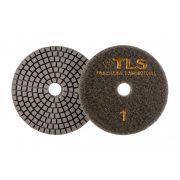 TLS VULCAN D100 mm 3 darabos teljes szett száraz vizes gyémánt polírozótárcsa P50-300-1000