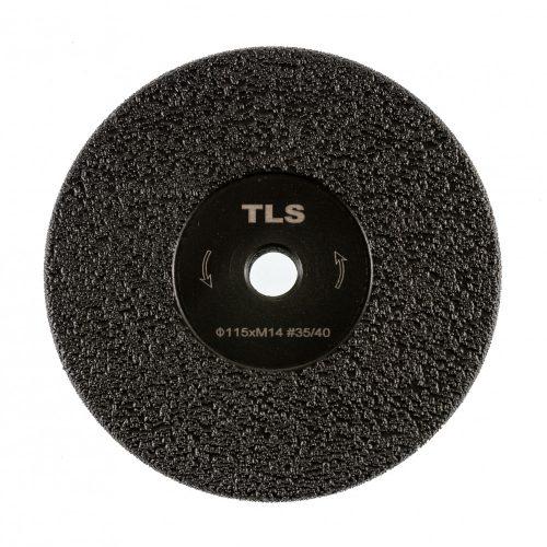 TLS VACUUM FLAP gyémánt vágó- és csiszolótárcsa  M14x115 mm - durva szemcseméret fekete