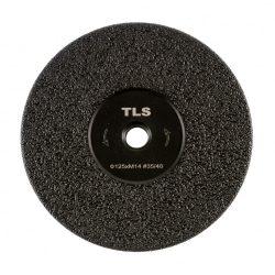 TLS VACUUM FLAP gyémánt vágó- és csiszolótárcsa  M14x125 mm - durva szemcseméret fekete