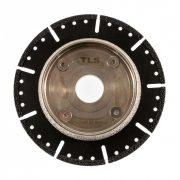 TLS VACUUM TRAIL gyémánt vágó- és csiszolótárcsa d125 x 22.23 x 6.2 mm - durva szemcseméret fekete