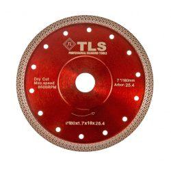TLS K-PRO ultravékony gyémánt vágókorong d180x25,4/22,23x1,6x10 mm