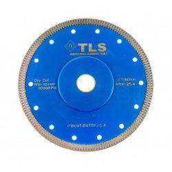 TLS X-PRO ultravékony gyémánt vágókorong d180x25,4/22,23x1,6x10 mm