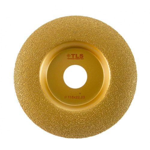 TLS VACUUM ARC gyémánt csiszolótárcsa 1 oldalas d115 x 22.23 mm - arany