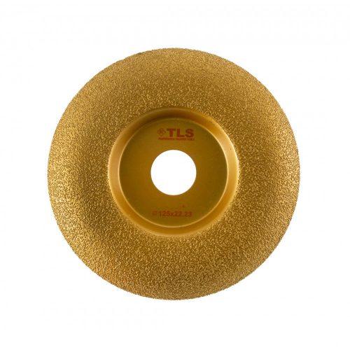 TLS VACUUM ARC gyémánt csiszolótárcsa 1 oldalas d125 x 22.23 mm - arany
