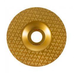 TLS VACUUM TRIANGLE gyémánt csiszolótárcsa 1 oldalas d115 x 22.23 mm - arany