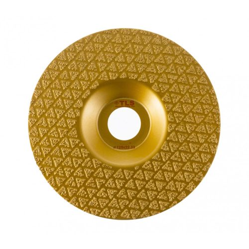 TLS VACUUM TRIANGLE gyémánt csiszolótárcsa 1 oldalas d125 x 22.23 mm - arany