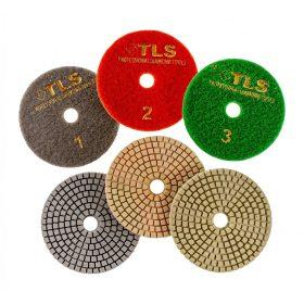 TLS VULCAN száraz vizes gyémánt polírozótárcsa 3 darabos szett