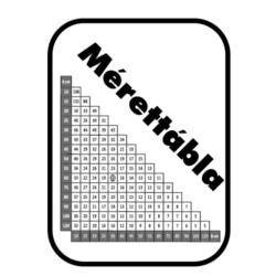 Mérettáblázat anyagszükséglet számításhoz