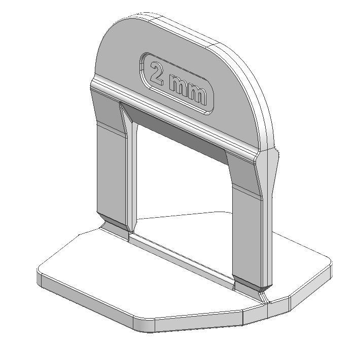 TLS-PRO - 100 db lapszintező talp 2 mm