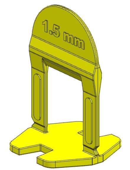 TLS BASIC NEW - 1500 db 1.5 mm lapszintező talp