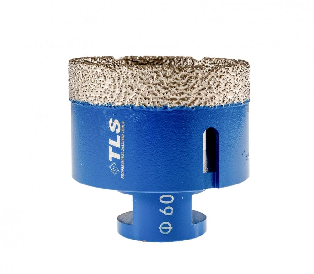 TLS COBRA-PRO gyémánt lyukfúró 60 mm sarokcsiszolóra száraz és vizes kék