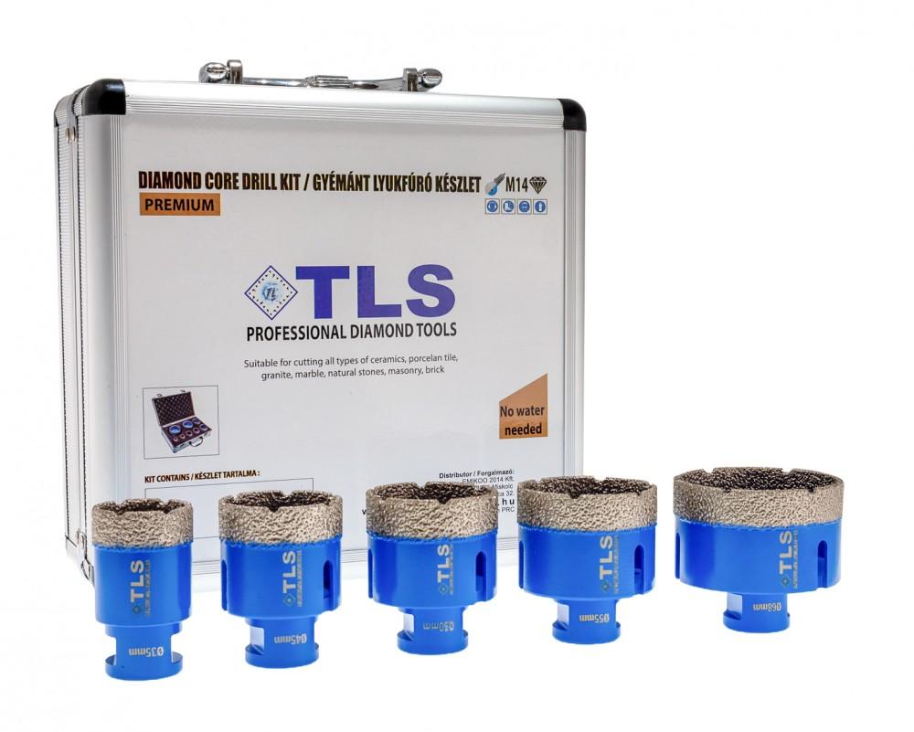 TLS lyukfúró készlet 38-40-50-55-65 mm - alumínium koffer