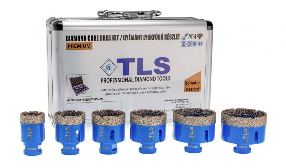 TLS-PRO 6 db-os lyukfúró készlet 12-20-38-43-51-67 mm - alumínium koffer fehér